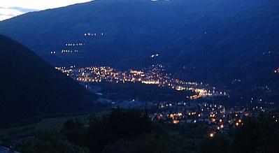 abendlicher Blick auf Boerg St.Maurice