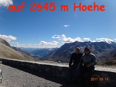 auf m Galibier mit 2645 m