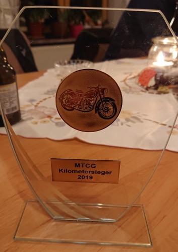 Kilometerwettbewerb 2019, erster Platz